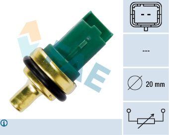 FAE  33706 Sensor, temperatura del refrigerante Número de polos: 2polos