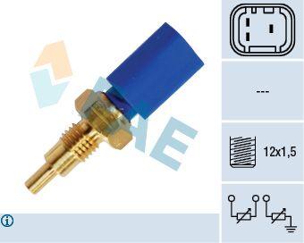 FAE  33722 Sensor, temperatura del refrigerante