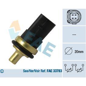 FAE Kühlmitteltemperatur-Sensor 33781 für AUDI A4 Cabriolet (8H7, B6, 8HE, B7) 3.2 FSI ab Baujahr 01.2006, 255 PS