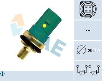 FAE  33783 Sensor, temperatura del refrigerante