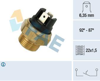 FAE  37310 Interruptor de temperatura, ventilador del radiador Número de polos: 2polos