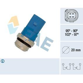 FAE Temperaturschalter, Kühlerlüfter 38391 für AUDI A6 (4B2, C5) 2.4 ab Baujahr 07.1998, 136 PS