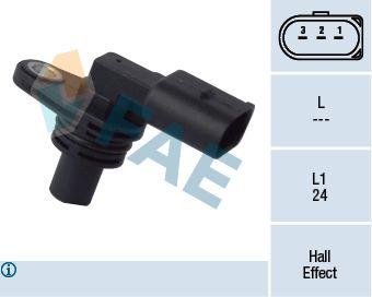 FAE  79129 Sensor, posición arbol de levas