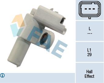 FAE  79151 Sensor, posición arbol de levas Número de polos: 3polos