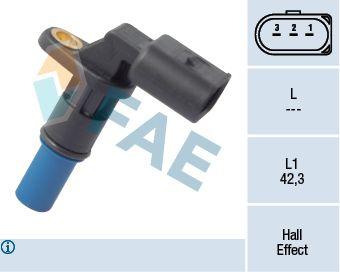 FAE  79176 Sensor, posición arbol de levas