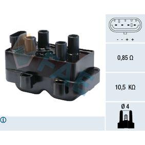 Renault Twingo 2 1.2 Turbo (CN0C, CN0F) Zündspule FAE 80222 (1.2 Turbo (CN0C, CN0F) Benzin 2008 D4F 782)