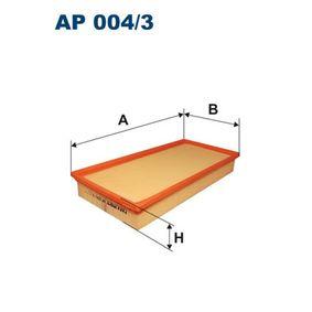 FILTRON Luftfilter AP004/3 für AUDI Q7 (4L) 3.0 TDI ab Baujahr 11.2007, 240 PS
