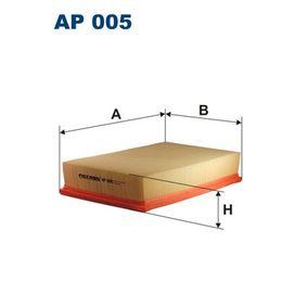 FILTRON Luftfilter AP005 für AUDI 80 (8C, B4) 2.8 quattro ab Baujahr 09.1991, 174 PS