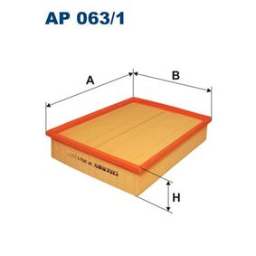 FILTRON Luftfilter AP063/1 für AUDI A6 (4B2, C5) 2.4 ab Baujahr 07.1998, 136 PS
