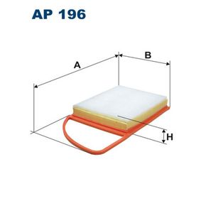 Filtre à Air PEUGEOT 207 (WA_, WC_) 1.6 HDi 110 de Année 08.2009 112 CH: Filtre à air (AP196) pour des FILTRON