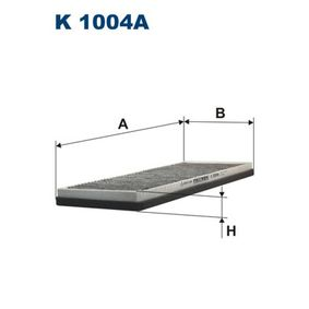 FILTRON Filter, Innenraumluft K1004A für AUDI 80 (8C, B4) 2.8 quattro ab Baujahr 09.1991, 174 PS