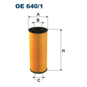 FILTRON Ölfilter OE640/1 für AUDI A4 (8E2, B6) 1.9 TDI ab Baujahr 11.2000, 130 PS