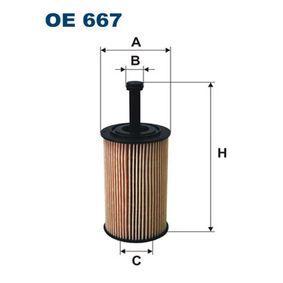 FILTRON Oljefilter OE667 med OEM Koder 1109R6
