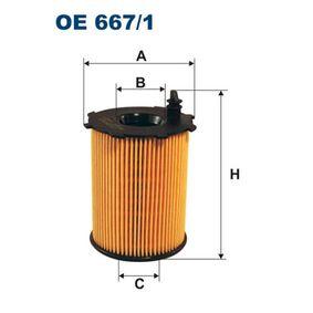 Ölfilter Ø: 71,5mm, Innendurchmesser 2: 26mm, Innendurchmesser 2: 25,5mm, Höhe: 99,5mm mit OEM-Nummer 1651073J02