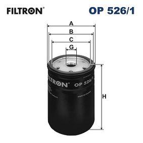Ölfilter für VW GOLF IV (1J1) 1.6 100 PS ab Baujahr 08.1997 FILTRON Ölfilter (OP526/1) für