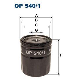 Filtro olio (OP540/1) per per Lampadina Luce Posteriore di Stop FIAT SCUDO Furgonato (220L) 2.0 JTD 16V dal Anno 05.1999 109 CV di FILTRON
