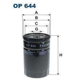 Pompe à Huile Moteur CHRYSLER VOYAGER III (GS) 2.5 TD de Année 01.1995 116 CH: Filtre à huile (OP644) pour des FILTRON