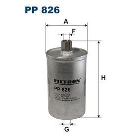 FILTRON Kraftstofffilter PP826 für AUDI 90 (89, 89Q, 8A, B3) 2.2 E quattro ab Baujahr 04.1987, 136 PS
