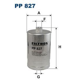 FILTRON Kraftstofffilter PP827 für AUDI 80 (8C, B4) 2.8 quattro ab Baujahr 09.1991, 174 PS