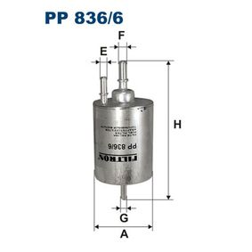FILTRON Kraftstofffilter PP836/6 für AUDI A4 Cabriolet (8H7, B6, 8HE, B7) 3.2 FSI ab Baujahr 01.2006, 255 PS