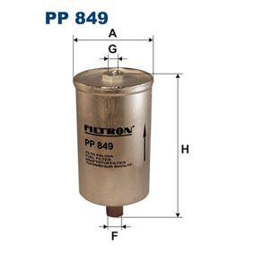 FILTRON Kraftstofffilter PP849 für AUDI COUPE (89, 8B) 2.3 quattro ab Baujahr 05.1990, 134 PS