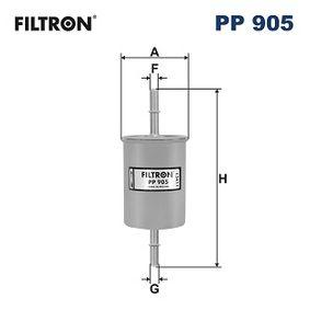 Sistema de pré-aquecimento do motor (eléctrico) OPEL CORSA C Caixa (F08, W5L) 1.2 80 CV de Ano 07.2005: Filtro de combustível (PP905) para de FILTRON