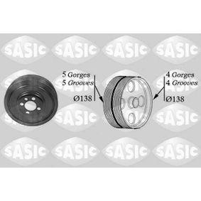 Kurbelwellenriemenscheibe VW PASSAT Variant (3B6) 1.9 TDI 130 PS ab 11.2000 SASIC Riemenscheibe, Kurbelwelle (2156001) für