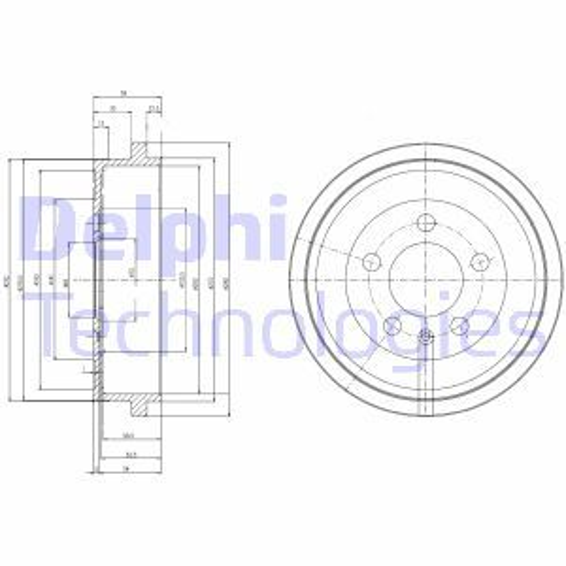 DELPHI  BF463 Bremstrommel Trommel-Ø: 240mm