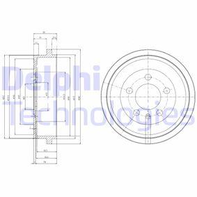 Bremstrommel Trommel-Ø: 240mm mit OEM-Nummer 6QE609617