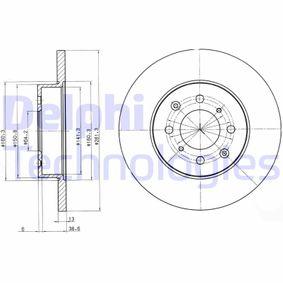 Спирачен диск дебелина на спирачния диск: 13мм, брой на дупките: 4, Ø: 262мм с ОЕМ-номер SDB 1005 00