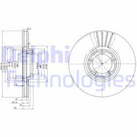 Bremsscheibe Bremsscheibendicke: 24mm, Lochanzahl: 5, Ø: 254mm mit OEM-Nummer 5029815