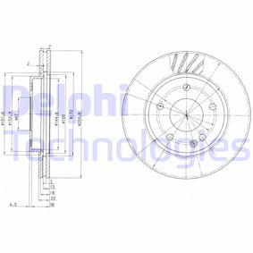 Sensor de Nivel de Combustible MERCEDES-BENZ CLASE A (W168) A 170 CDI (168.008) de Año 07.1998 90 CV: Disco de freno (BG3395) para de DELPHI