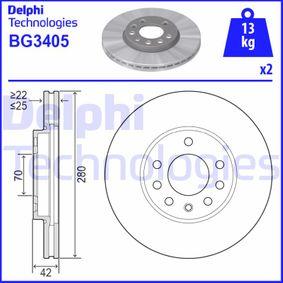 Artikelnummer BG3405 DELPHI Preise