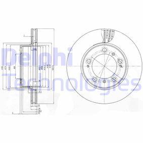 Bremsscheibe Bremsscheibendicke: 24mm, Lochanzahl: 5, Ø: 298mm mit OEM-Nummer 98635140105