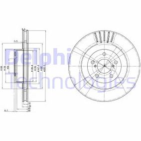 Bremsscheibe Bremsscheibendicke: 24mm, Lochanzahl: 5, Ø: 295mm mit OEM-Nummer 26300FE040