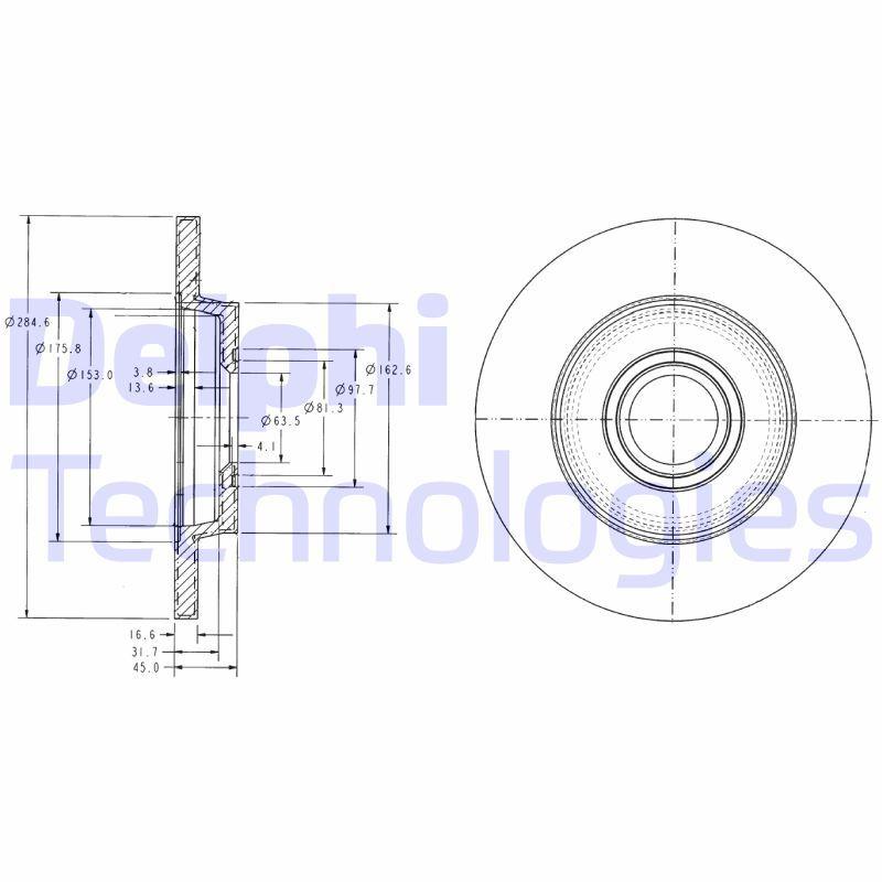 DELPHI  BG3416 Bremsscheibe Bremsscheibendicke: 12mm, Ø: 280mm