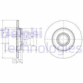 Bremsscheibe Bremsscheibendicke: 12mm, Ø: 280mm mit OEM-Nummer 701615601A