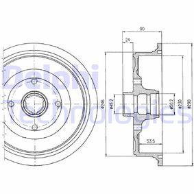 Bremstrommel mit OEM-Nummer 443501615