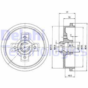 Bremstrommel Trommel-Ø: 240 mit OEM-Nummer 1H0 501 615 A