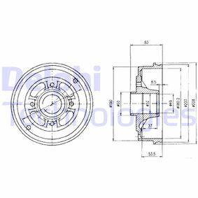 Bremstrommel Trommel-Ø: 208mm mit OEM-Nummer 6001 548 126