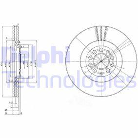 Bremsscheibe Bremsscheibendicke: 25mm, Lochanzahl: 5, Ø: 312mm mit OEM-Nummer 8N0 615 301 A