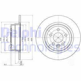 Disco freno (BG3550) per per Pezzo per Bloccaggio ROVER 75 (RJ) 1.8 dal Anno 02.1999 120 CV di DELPHI