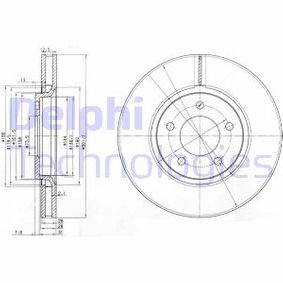 DELPHI  BG3716 Bremsscheibe Bremsscheibendicke: 28mm, Lochanzahl: 5, Ø: 301mm
