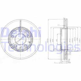 DELPHI  BG3724 Bremsscheibe Bremsscheibendicke: 24mm, Lochanzahl: 5, Ø: 273mm