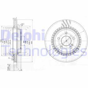 DELPHI  BG3726 Bremsscheibe Bremsscheibendicke: 22mm, Lochanzahl: 5, Ø: 300mm
