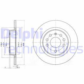 DELPHI  BG3731 Bremsscheibe Bremsscheibendicke: 12mm, Lochanzahl: 5, Ø: 278mm