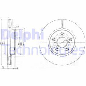DELPHI  BG3735 Bremsscheibe Bremsscheibendicke: 28mm, Lochanzahl: 5, Ø: 296mm