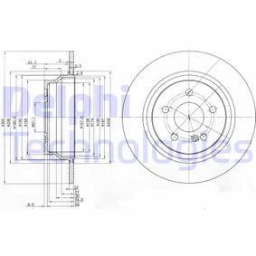 DELPHI  BG3757 Bremsscheibe Bremsscheibendicke: 10mm, Lochanzahl: 5, Ø: 300mm
