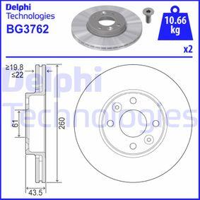 Bremsscheibe BG3762 TWINGO 2 (CN0) 1.2 16V Bj 2014