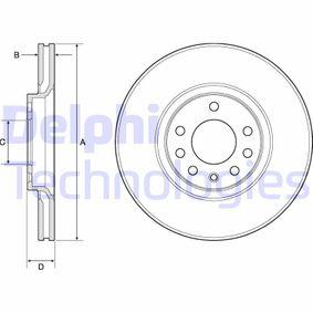 DELPHI  BG3770 Bremsscheibe Bremsscheibendicke: 25mm, Lochanzahl: 5, Ø: 308mm